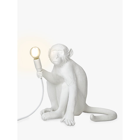 Awesome Buy Seletti Sitting Monkey Table Lamp, White Online At Johnlewis.com ...