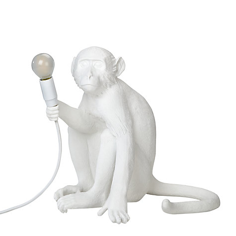 Great ... Buy Seletti Sitting Monkey Table Lamp, White Online At Johnlewis.com ...