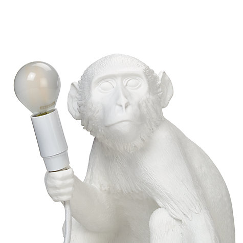 Buy seletti sitting monkey table lamp white john lewis buy seletti sitting monkey table lamp white online at johnlewis mozeypictures