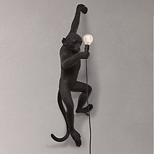 Buy Seletti Hanging Monkey Wall Light, Black Online at johnlewis.com