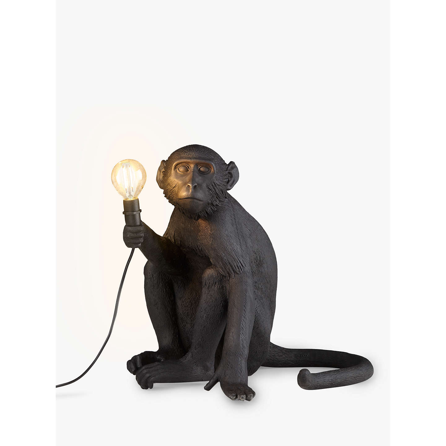 BuySeletti Sitting Monkey Table Lamp, Black Online At Johnlewis.com ...