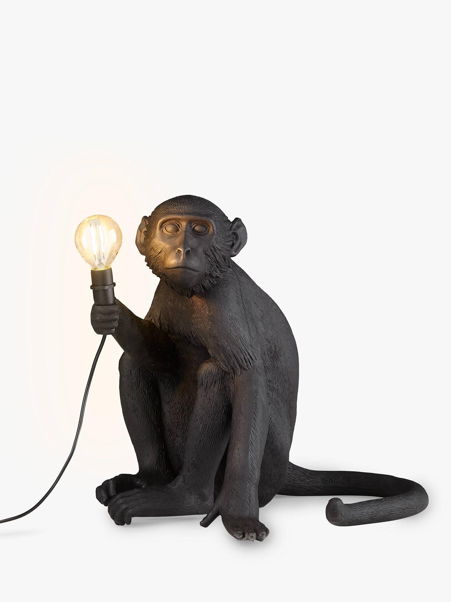Seletti Sitting Monkey Table Lamp Black At John Lewis