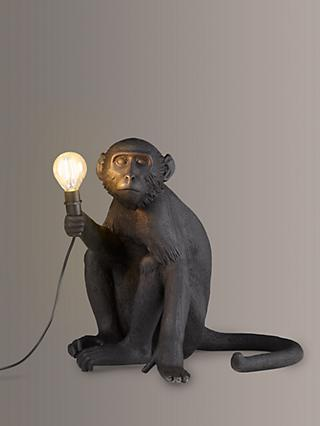 Seletti Sitting Monkey Table Lamp, Black