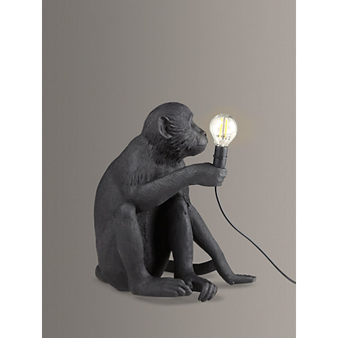 Buy seletti sitting monkey table lamp black john lewis buy seletti sitting monkey table lamp black online at johnlewis mozeypictures