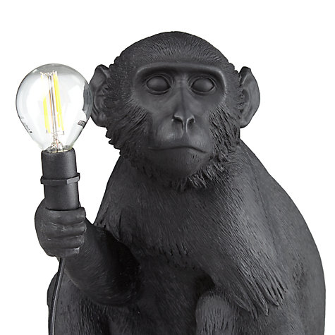 ... Buy Seletti Sitting Monkey Table Lamp, Black Online At Johnlewis.com ...