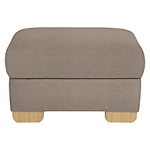 Buy John Lewis Cooper Footstool, Light Leg, Bala Charcoal Online at johnlewis.com