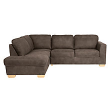 Buy John Lewis Cooper Leather LHF Corner Chaise End, Light Leg, Africa Ashanti Online at johnlewis.com