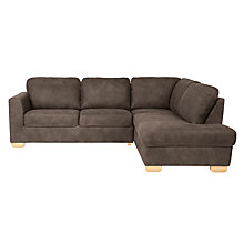 Buy John Lewis Cooper Leather RHF Corner Chaise End, Light Leg, Africa Ashanti Online at johnlewis.com