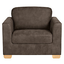 Buy John Lewis Cooper Leather Armchair, Light Leg, Africa Ashanti Online at johnlewis.com