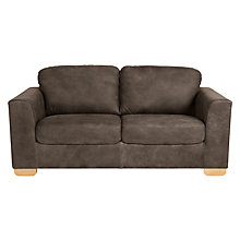 Buy John Lewis Cooper Large 3 Seater Leather Sofa, Light Leg, Africa Ashanti Online at johnlewis.com