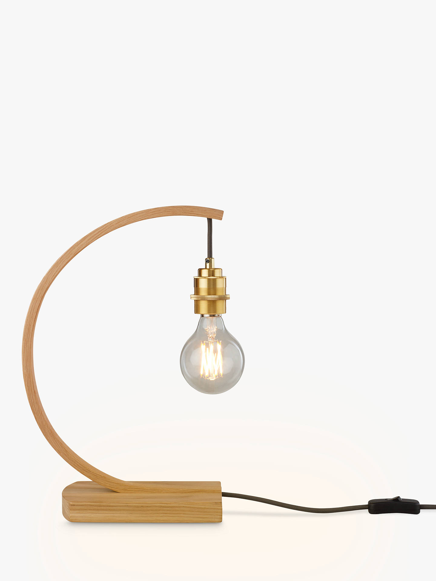 Tom Raffield Stem Table Light, Oak at