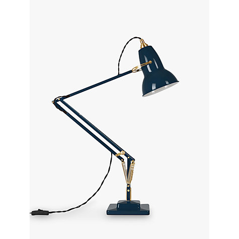 Buy Anglepoise 1227 Desk Lamp, Ink / Brass Online at johnlewis.com