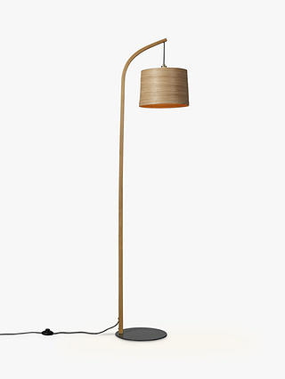 Buy Tom Raffield Mullion Grey Base Floor Lamp, Oak/Brass Online at johnlewis.com