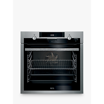 Image of AEG BCS551020M Built-In Single Multifunction SteamBake Electric Oven, Stainless Steel
