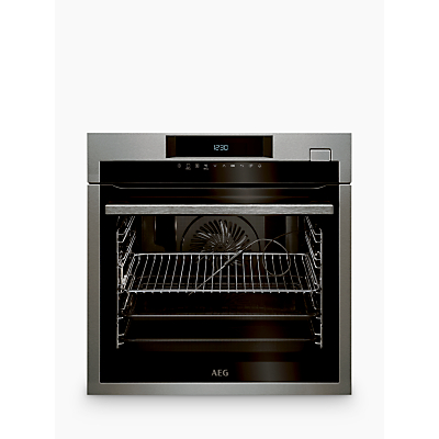 AEG BSE774320M Built-In Pyrolytic Single Oven with Steam, Stainless Steel