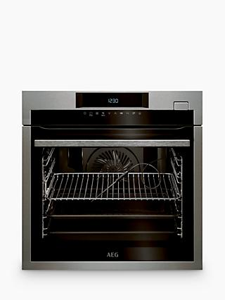 AEG BSE774320M Pyrolytic Single Oven with Steam, Stainless Steel