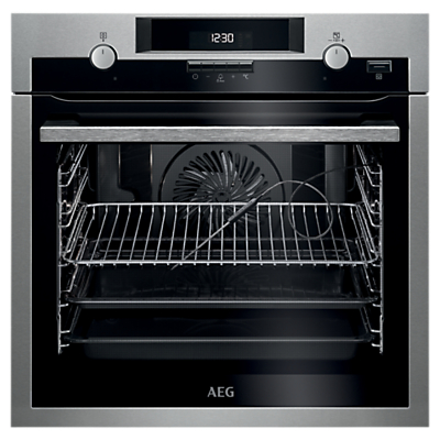 AEG BPS552020M Single Pyrolytic Multifunction Oven, Stainless Steel