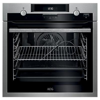AEG BPS552020M Built-In Single Pyrolytic Multifunction Oven, Stainless Steel
