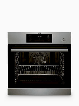 Buy AEG BPS351020M Built-In Single SteamBake Electric Oven, Stainless Steel Online at johnlewis.com