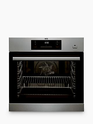 AEG BPS351020M Built-In Single SteamBake Electric Oven, Stainless Steel