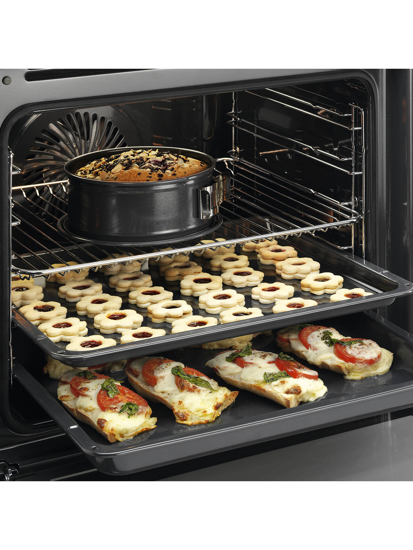 BuyAEG BPS351020M Built-In Single SteamBake Electric Oven, Stainless Steel Online at johnlewis.com