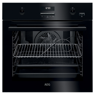 Image of AEG BPE552220B Built-In Single Multifunction SteamBake Electric Oven, Black