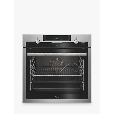 Image of AEG BCS552020M Built-In Single Multifunction SteamBake Electric Oven, Stainless Steel