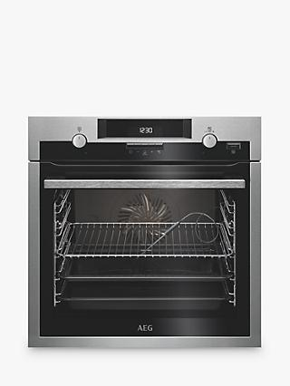 AEG BCS552020M Built-In Single Multifunction SteamBake Electric Oven, Stainless Steel