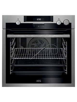 Buy AEG BSE574221M Built-In Pyrolytic Multifunction Single Oven with Steam, Stainless Steel Online at johnlewis.com