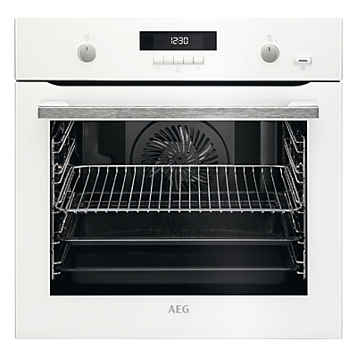 AEG BPS551020W Built-In Single SteamBake Electric Oven, White
