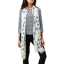 Buy Hobbs Bayview Scarf, Ivory Multi Online at johnlewis.com