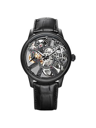 Maurice Lacroix MP7228-PVB01-005-1 Men's Skeleton Watch, Black/Grey