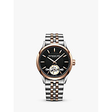 Buy Raymond Weil 2780-SP520001 Men's Freelancer Automatic Open Balance Wheel Two Tone Bracelet Strap Watch, Silver/Rose Gold Online at johnlewis.com