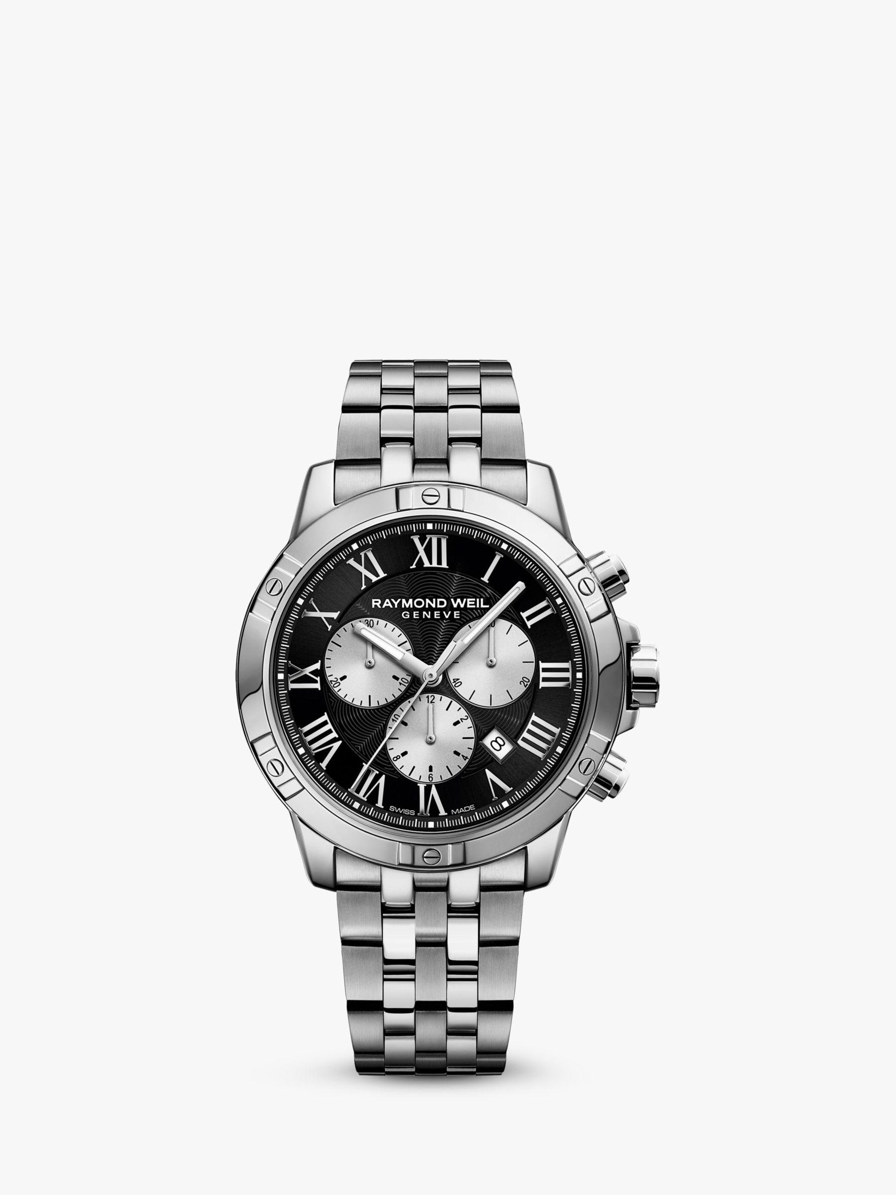 Raymond Weil Raymond Weil 8560-ST00206 Men's Tango Chronograph Date Bracelet Strap Watch, Silver/Black