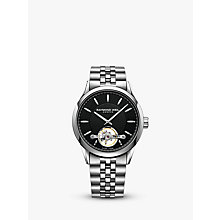 Buy Raymond Weil 2780-ST20001 Men's Freelancer Automatic Open Balance Wheel Two Tone Bracelet Strap Watch, Silver/Black Online at johnlewis.com