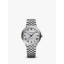 Buy Raymond Weil 8560-ST00206 Men's Maestro Automatic Date Bracelet Strap Watch, Silver Online at johnlewis.com