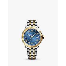 Buy Raymond Weil 8160-STP00508 Men's Tango Date Two Tone Bracelet Strap Watch, Silver/Gold Online at johnlewis.com