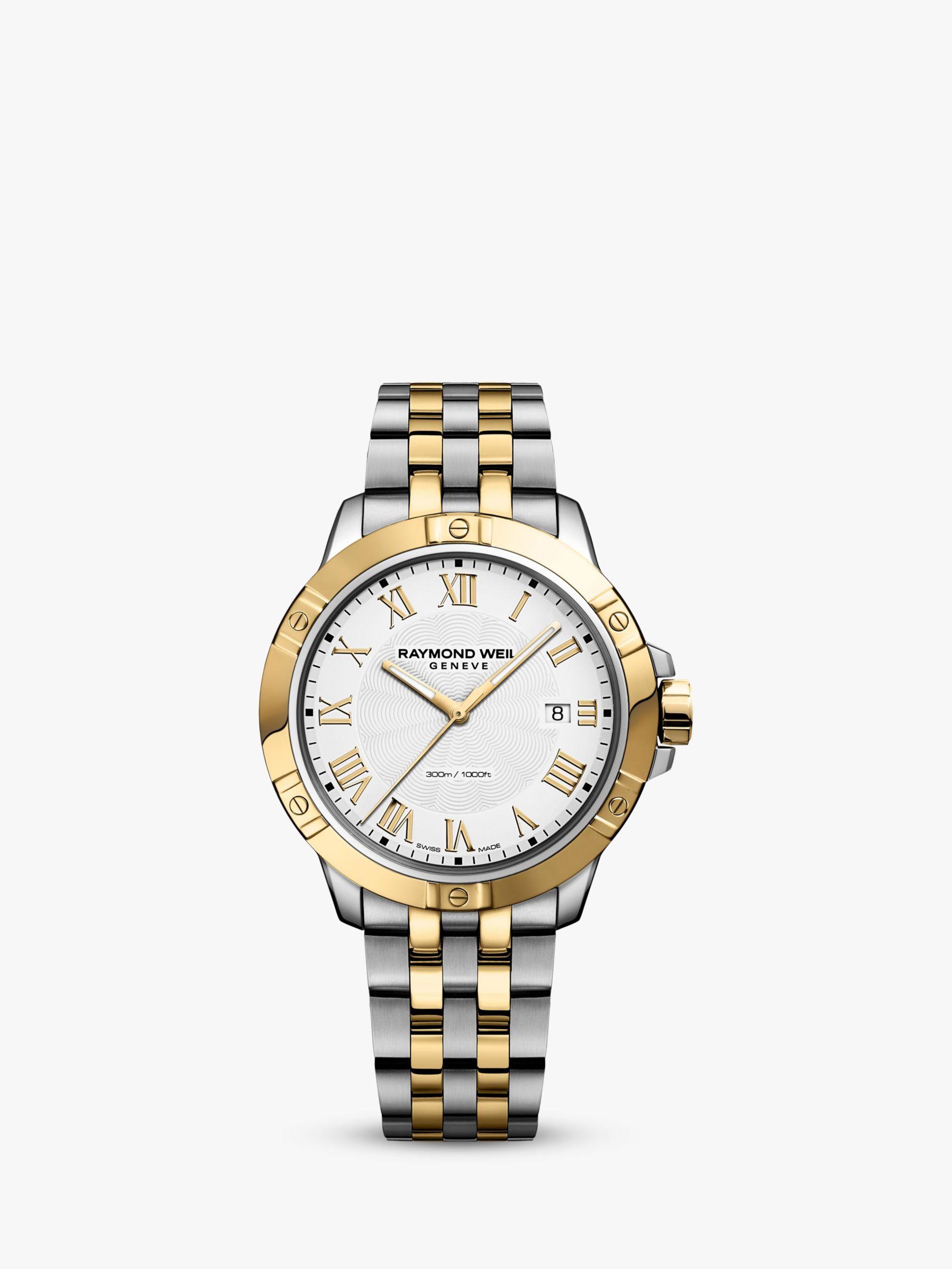 Raymond Weil Raymond Weil 8160-ST00208 Men's Tango Date Bracelet Strap Watch, Silver/Gold