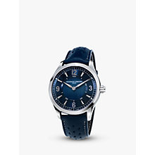 Buy Frédérique Constant FC-282AN5B6 Men's Horological Smartwatch Leather Strap Watch, Navy Online at johnlewis.com