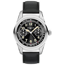 Buy Montblanc 117744 Men's Summit Leather Strap Smart Watch, Black Online at johnlewis.com