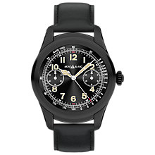 Buy Montblanc 117538 Men's Summit Leather Strap Smart Watch, Black Online at johnlewis.com