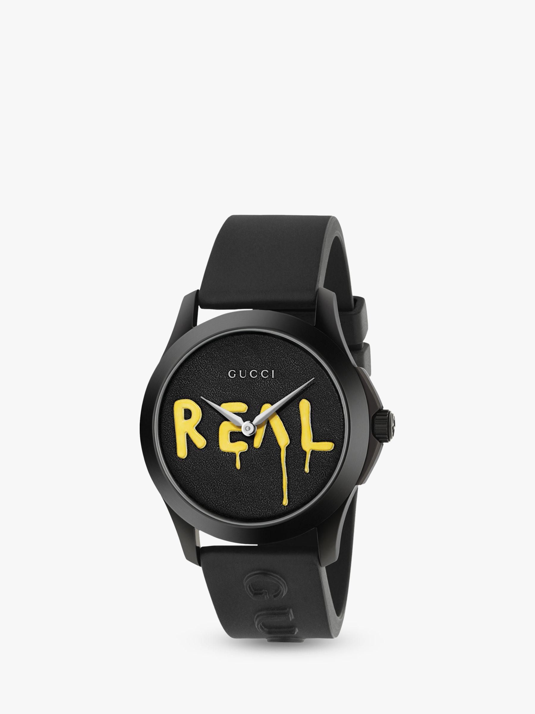 094a6031f4f Gucci YA1264017 Unisex G-Timeless Rubber Strap Watch