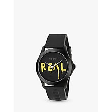 Buy GucciGhost G Timeless YA1264017 Men's Watch, Black/Yellow Online at johnlewis.com