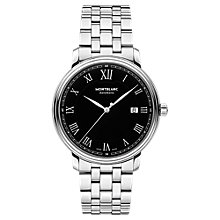 Buy Montblanc 116483 Men's Tradition Date Automatic Bracelet Strap Watch, Silver Online at johnlewis.com