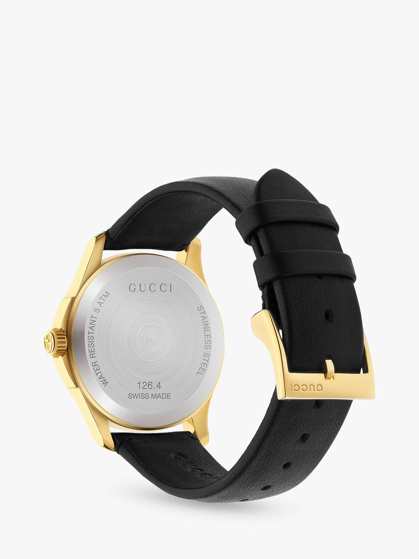 6e6e62f7abe Black Silver Online  Buy Gucci YA1264027 Unisex G-Timeless Date Leather  Strap Watch.