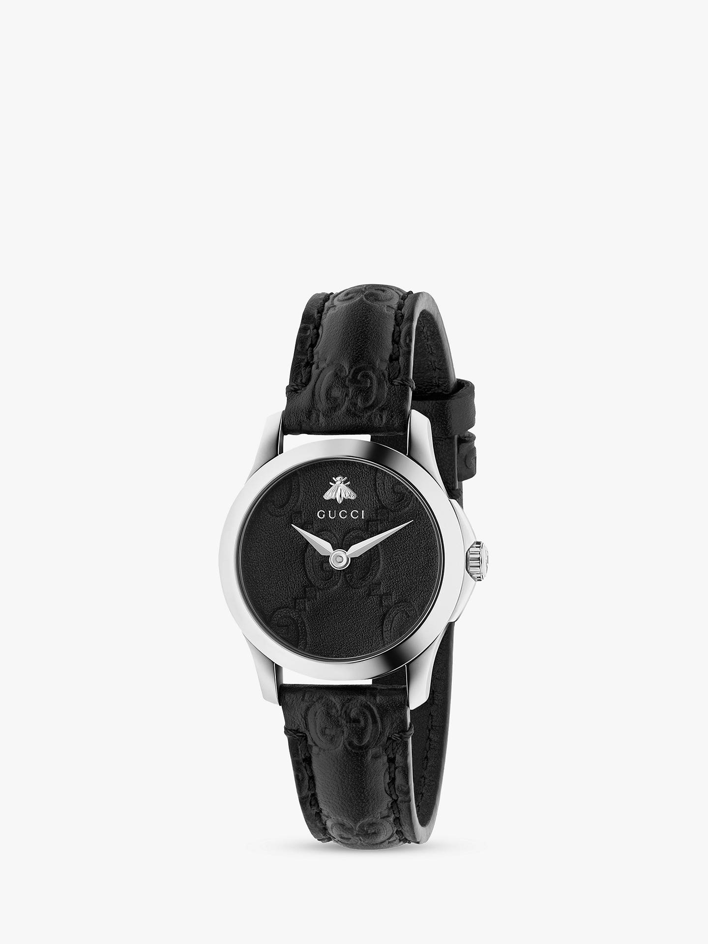 45685b48203 Gucci YA126579 Women s G-Timeless Signature Leather Strap Watch ...
