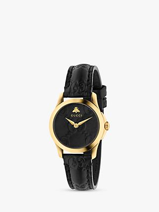f7b90edd95 Gucci YA126581 Women s G-Timeless Signature Leather Strap Watch