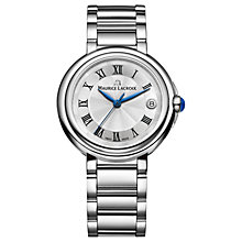 Buy Maurice Lacroix FA1007-SS002-110-1 Women's Fiaba Date Bracelet Strap Watch, Silver Online at johnlewis.com