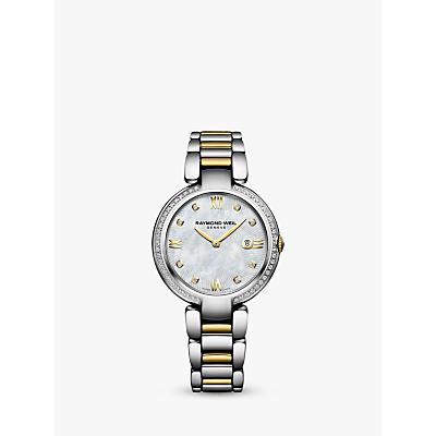 Raymond Weil 5391-SPS000995 Women's Tango Diamond Date Bracelet Strap Watch, Silver/Gold