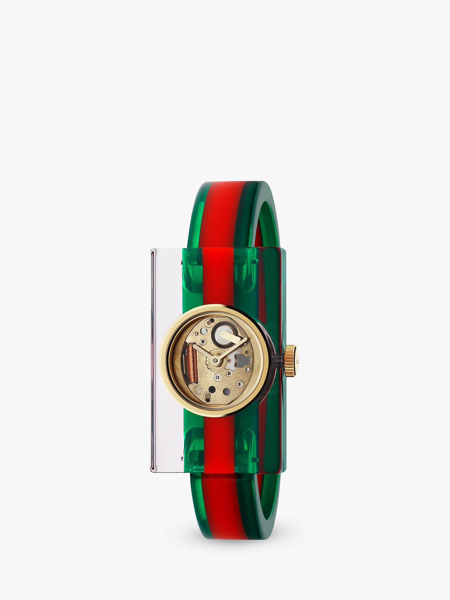 9f086b8c28a Buy Gucci YA143501 Women s Plexiglas Bangle Strap Watch